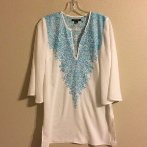 Timeless by Naeem Khan embroidered tunic small